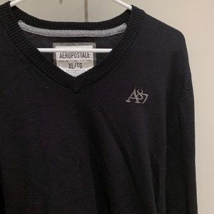 Aeropostale New 1987 Black Cotton Sweater | (XL)